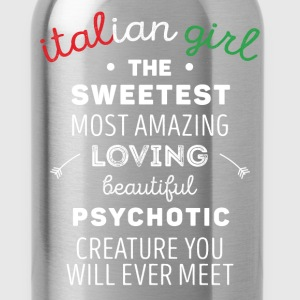 Italian Girl Psychotic Creature Italians T Shirt Tanks - Water Bottle