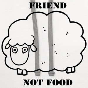 Friend Not Food Sheep - Contrast Hoodie