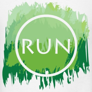 Run Watercolor Tank - Men's T-Shirt