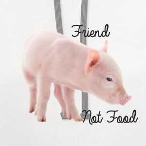 Cute Piglet with Text is Friend Not Food - Contrast Hoodie