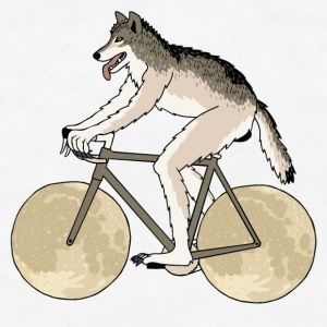Werewolf Riding Bike With Full Moon Wheels Mugs & Drinkware - Men's T-Shirt