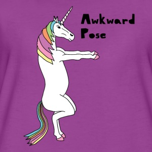 Yoga Unicorn Awkward Pose Baby Bodysuits - Women's Premium T-Shirt