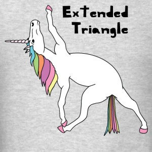 Yoga Unicorn Extended Triangle Pose Hoodies - Men's T-Shirt