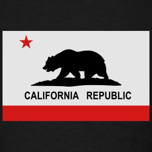 Flag of California Hoodies - Men's T-Shirt