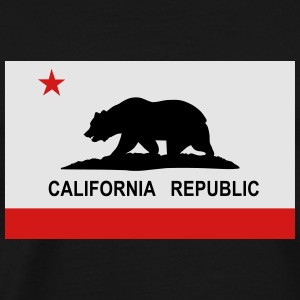 Flag of California Hoodies - Men's Premium T-Shirt