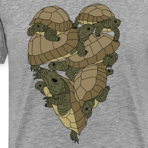 Turtle Heart Tank Tops - Men's Premium T-Shirt