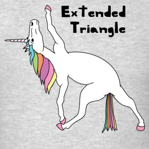 Yoga Unicorn Extended Triangle Pose Tank Tops - Men's T-Shirt