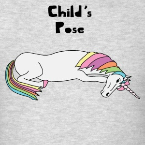 Yoga Unicorn Child's Pose  Tank Tops - Men's T-Shirt