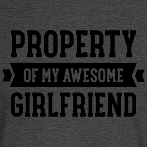 Property Of My Awesome Girlfriend T-Shirts - Men's Long Sleeve T-Shirt