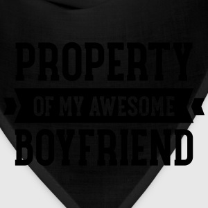 Property Of My Awesome Boyfriend Women's T-Shirts - Bandana