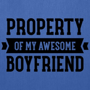 Property Of My Awesome Boyfriend Women's T-Shirts - Tote Bag