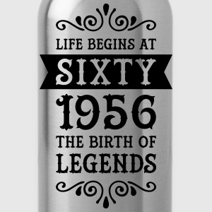 Life Begins At Sixty - 1956 The Birth Of Legends T-Shirts - Water Bottle