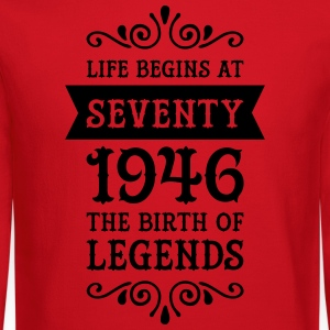 Life Begins At Seventy - 1946 The Birth Of Legends Women's T-Shirts - Crewneck Sweatshirt
