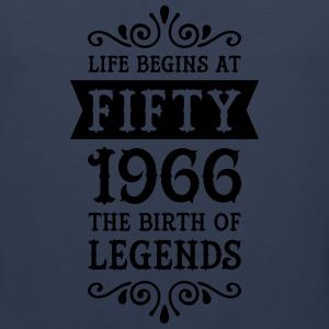 Life Begins At Fifty - 1966 The Birth Of Legends Women's T-Shirts - Men's Premium Tank