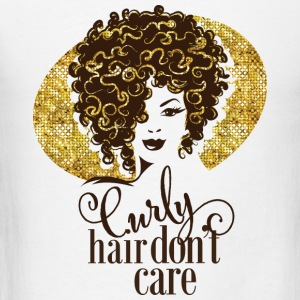 curly hair don't care - Men's T-Shirt