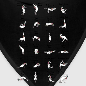 24 Yoga Unicorn Poses T-Shirts - Bandana