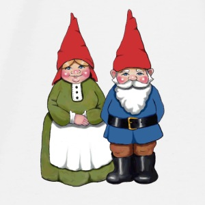 Gnome Couple: Original Illustration - Men's Premium T-Shirt