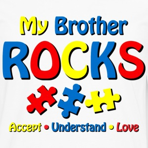 Autistic Brother Rocks Kids' Shirts - Men's Premium Long Sleeve T-Shirt