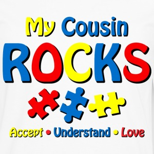 Autistic Cousin Rocks Kids' Shirts - Men's Premium Long Sleeve T-Shirt