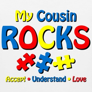 Autistic Cousin Rocks Kids' Shirts - Men's Premium Tank