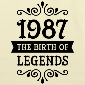 1987 - The Birth Of Legends Women's T-Shirts - Eco-Friendly Cotton Tote