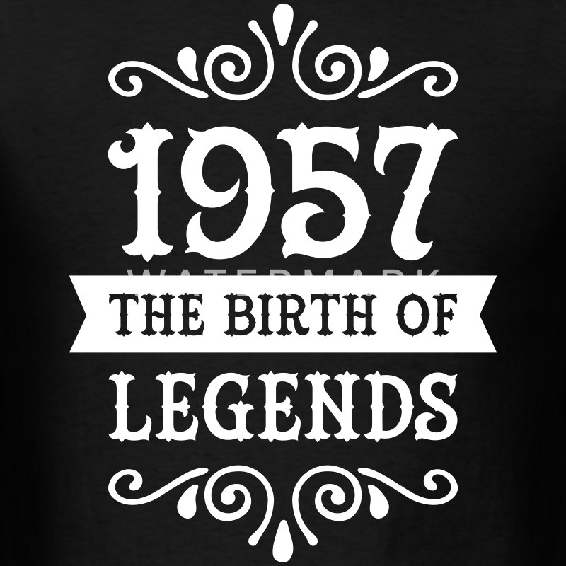 1957 - The Birth Of Legends T-Shirts - Men's T-Shirt
