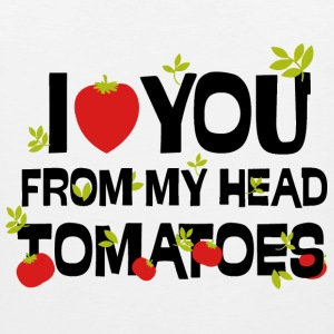 I love you from my head tomatoes - Men's Premium Tank