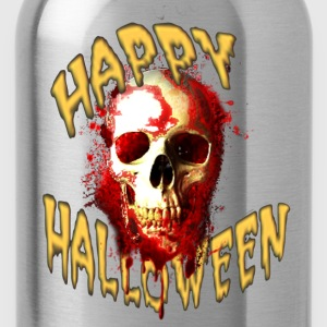 Happy Halloween Bloody Skull T-Shirts - Water Bottle