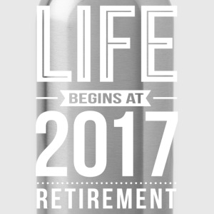 Life Begins At 2017 T-Shirts - Water Bottle