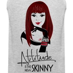Attitude is the new skinny - light grey shirt - Men's Premium Tank