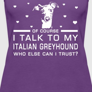 Italian Greyhound - Women's Premium Tank Top
