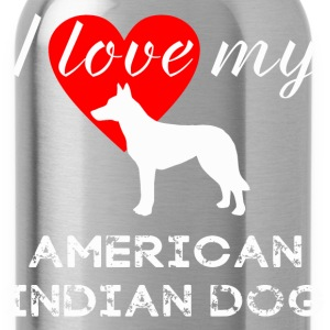American Indian Dog - Water Bottle