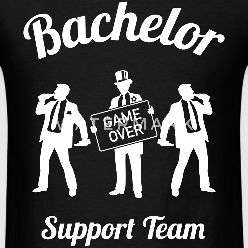 Bachelor Game Over Support Team (Stag Party / 1C) T-Shirts - Men's T-Shirt