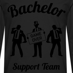 Bachelor Game Over Support Team (Stag Party / 1C) T-Shirts - Men's Premium Long Sleeve T-Shirt