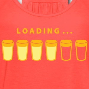 Beer Loading - Women's Flowy Tank Top by Bella