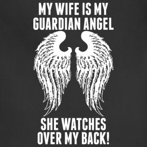 My Wife Is My Guardian Angel She Watches Over My - Adjustable Apron