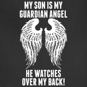My Son Is My Guardian Angel He Watches Over My B - Adjustable Apron