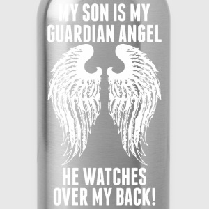 My Son Is My Guardian Angel He Watches Over My B - Water Bottle