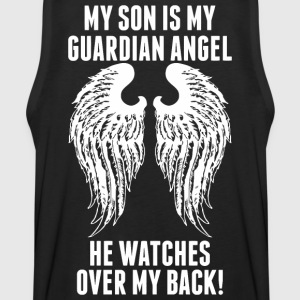 My Son Is My Guardian Angel He Watches Over My B - Men's Premium Tank