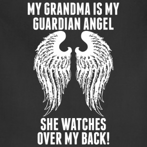 My Grandma Is My Guardian Angel She Watches Over - Adjustable Apron
