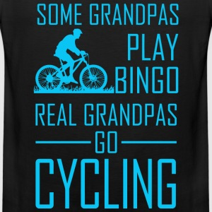 Some Grandpas Play Bingo Real Grandpas Go Cyclin - Men's Premium Tank