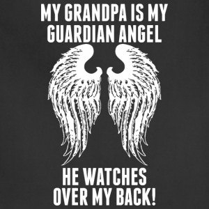 My Grandpa Is My Guardian Angel He Watches Over - Adjustable Apron