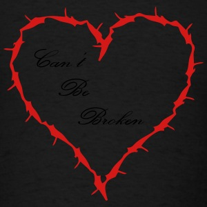 Barbed Wire Heart cant be broken  - Men's T-Shirt