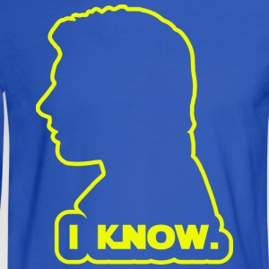 Han Solo - I Know. Design T-Shirts - Men's Long Sleeve T-Shirt