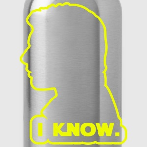 Han Solo - I Know. Design T-Shirts - Water Bottle