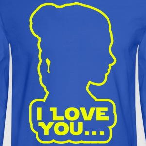 I love you, Princess Leia Women's T-Shirts - Men's Long Sleeve T-Shirt
