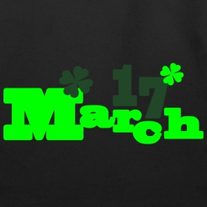 March 17 st.Patrick's day Men's Ringer T-Shirt - Eco-Friendly Cotton Tote