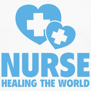 Nurse Healing The World - Men's Premium Long Sleeve T-Shirt