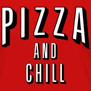 pizza and chill - Women's Premium Long Sleeve T-Shirt