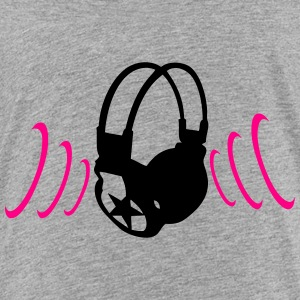 audio equalizer dj headphone music zik18 Kids' Shirts - Toddler Premium T-Shirt